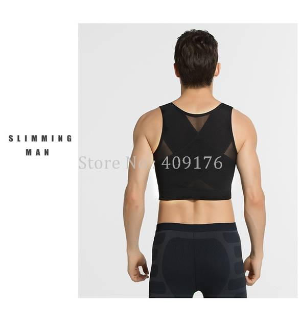 08c06130a321e placeholder PRAYGER Men chest boob Control Shapers Slimming Tummy Trimmer  Underwear Hold Big chest body shaper vest
