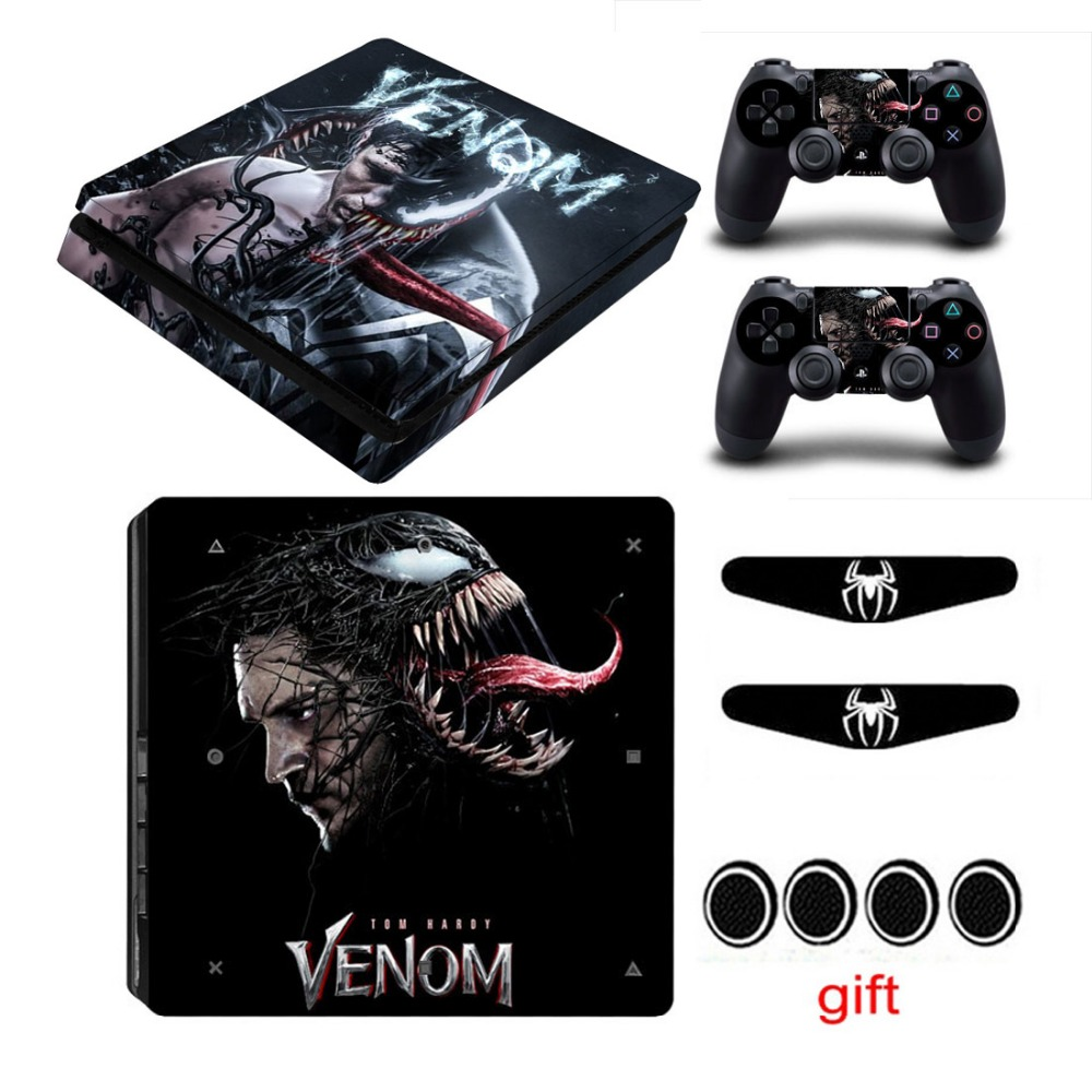 2018 Venom Spider Skin Sticker For Playstation 4 Ps4 Slim Console Vinyl Decals Controller Covers Stickers Play Station 4 Slim