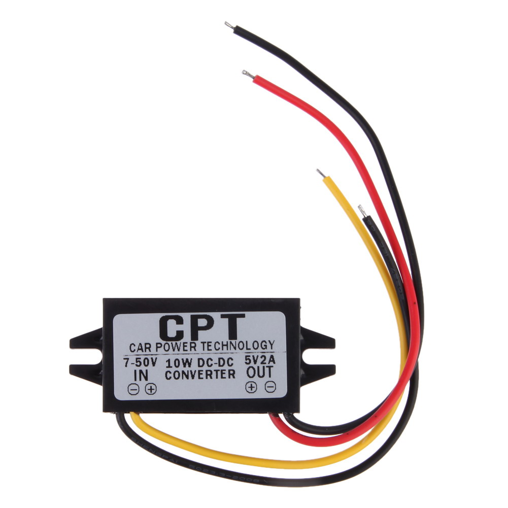 VODOOL 5.5*2.5 DC 5V Car Charger Male Converter CPT Car Power Step Down Regulator Non-isolated Buck Module Power Converter стоимость