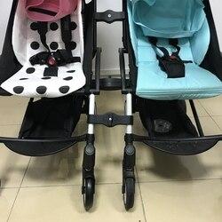3 sztuk/zestaw Twins wózki adapter złącza dla Babyzen Yoyo Baby Yoya akcesoria dla wózków dziecięcych wózek wspólne Linker akcesoria w Akcesoria do wózków od Matka i dzieci na