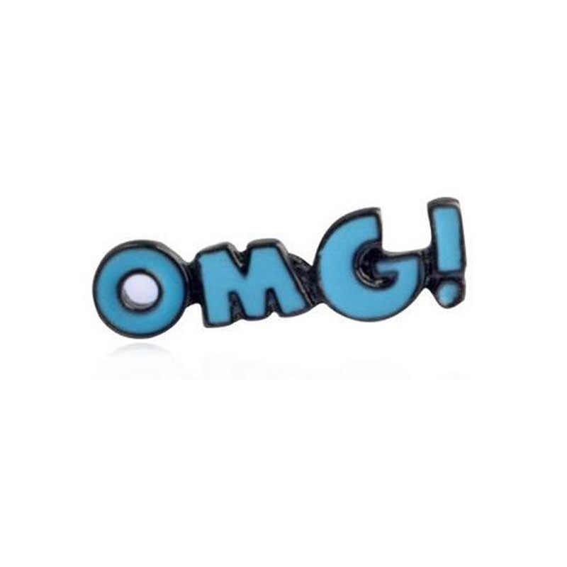 Lucu Kartun Wanita Bros Aksesoris Perhiasan Grosir Es Krim Es Loli Mulut Bibir Merah Minuman OMG! Enamel Paduan Bros Pin
