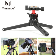 Aluminum Desktop Travel Tripod Camera Stand with Ballhead Quick Release Plate Kit for traveler photographer for Canon Nikon DSLR