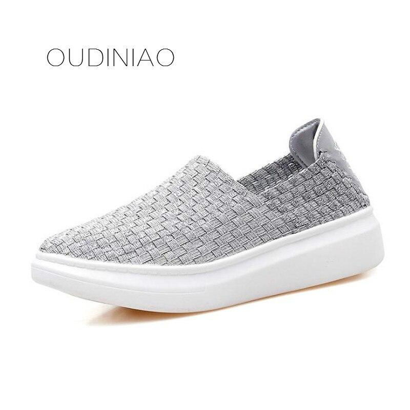 Women's Shoes Platform-Sneaker Comfortable Fashion New Flats Casual Four-Seasons Handmade