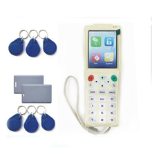 Free shipping Super More frequency  RFID Copier Duplicator IC/ID more Frequency With USB Cable For LCD Screen/lithium battery