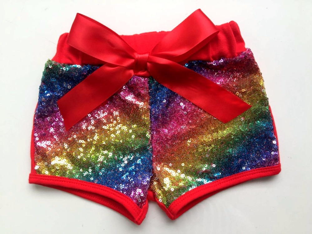 Rainbow Baby Girl Blush Rose Sequin   Shorts   mermaid Birthday Outfit Sequin Toddler Party   Shorts   Rose Gold Glittery Sequin pants