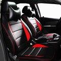 Cubierta de asiento de coche de cuero conjunto personalizado adecuado ajuste para VW Scirocco de 2009 trasera reposacabezas con orificio frontal y posterior seat covers