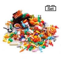 Accessoires alimentaires amis MOC blocs de construction boissons fruits légumes pain poisson bouteille ville pièces MOC briques jouets pour enfants