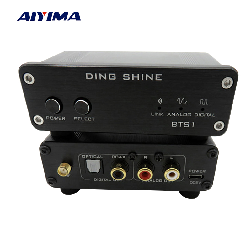 Aiyima BTS1 CSR8670 4,0 без потерь приемник Bluetooth APT-X Беспроводной аудио приемник Поддержка Fiber Coaxial AUX Выход