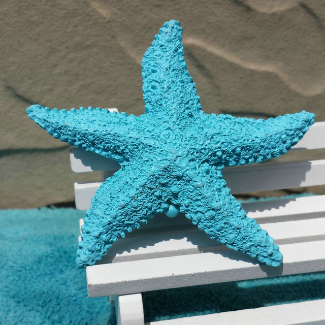 VILEAD 2.9'' Resin Starfish Figurines 4 Colors Mediterranean Style Home Decoration Mini Starfish Ornament for Taking Photo Props 6