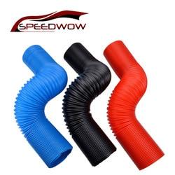 Speedwow motor de carro mangueira de ar flexível tubo de entrada de ar tubo de mangueira de entrada de ar do carro filtro de ar de admissão de ar frio tubo de mangueira de alimentação