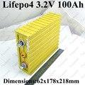 Grande capacidade 3.2 v bateria de lítio célula de bateria 100ah lifepo4 100a para bateria diy solar 100ah bateria de armazenamento de energia