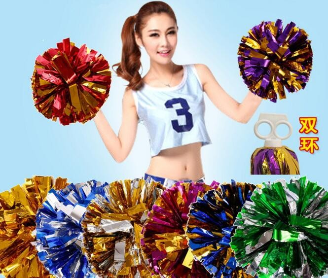 Free Shipping Green Mix Gold All Star First Single Paragraph Cheerleading Pom Pon Cheerleading Cheer Supplies#1839