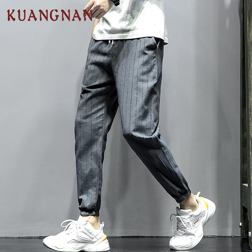 KUANGNAN Joggers Pants Men Trousers New Hip-Hop 5XL Ankle-Length Fashions