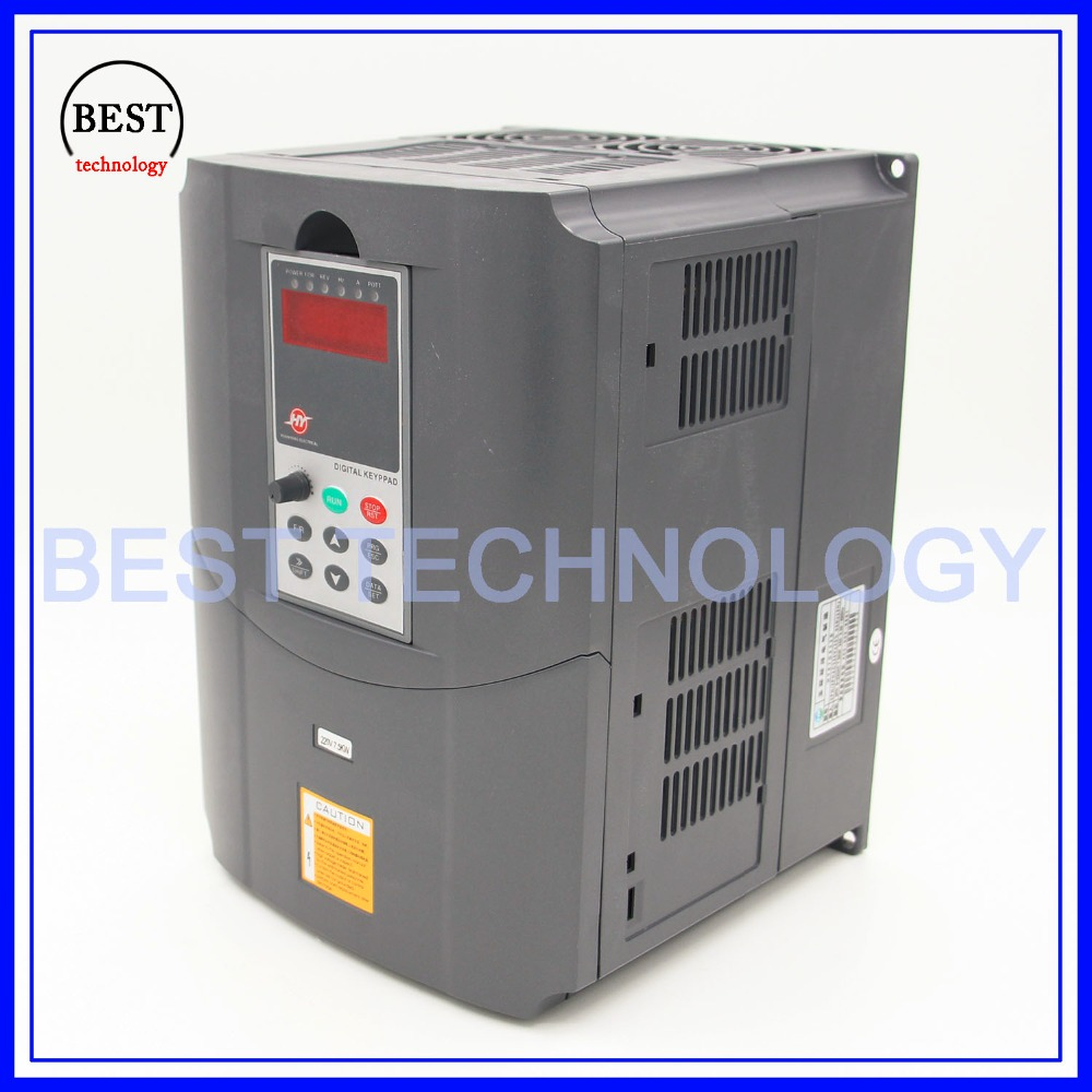 220v 7.5kw  VFD Variable Frequency Drive  Inverter / VFD1HP or 3HP Input 3HP Output CNC spindle  Driver spindle speed control-in Inverters & Converters from Home Improvement    2