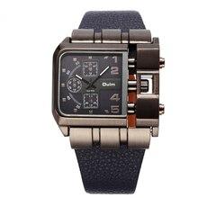 Gran estilo y tendencia Peculiar Personalidad Dail Reloj! 3 Colores Cuarzo y Banda de Cuero Hombre Moda casual Hombres Relojes de Pulsera HP3364