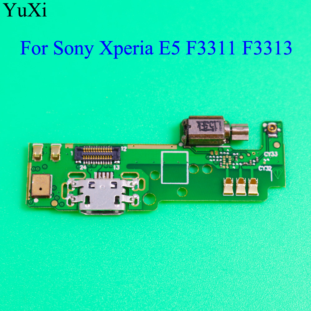 For Sony Xperia E5 F3311 F3313 USB Charging Port Dock Plug Jack Connector Charge Vibrator Board With Microphone Flex Cable Parts
