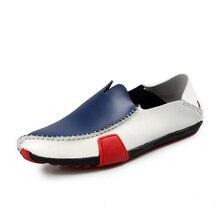 24-28.5cm Foot Length casual shoes Driving Dress shoe Men's Boat shoes cow Split Leather Solid Colors Soft surface leather shoes