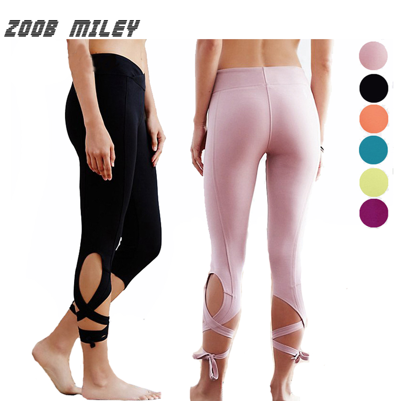 Prix pour Skinny femmes fitness yoga pantalon ballet esprit bandage workout leggings à séchage rapide course compression collants gym fitness pantalon