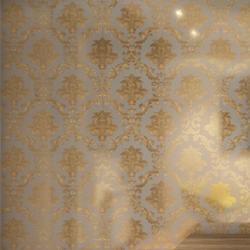 Brown Gold Yellow Textured Luxury Damask Wallpaper Damask Striped Embossed Vinyl Wall Paper Home Decor beibehang luxury glitter gold floral damask wallpaper textured vinyl damask stripe wall paper for home live room bedroom roll