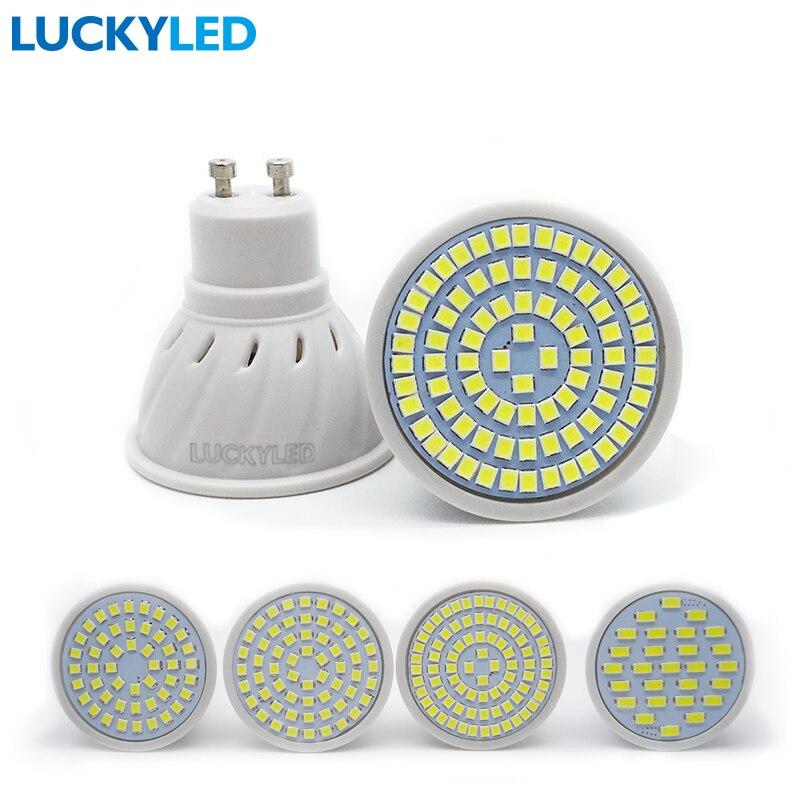 Luckyled Bombillas LED 3 Вт 4 Вт 5 Вт 6 Вт AC 220 В/110 В SMD 2835/ 5730 Светодиодные прожекторы GU10 для дома энергосберегающие лампада лампа