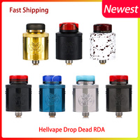 Big sale original Hellvape Drop Dead RDA 24mm diameter 14 airflow holes rda atomizer for aegis mod vs dead rabbit rda drop rda