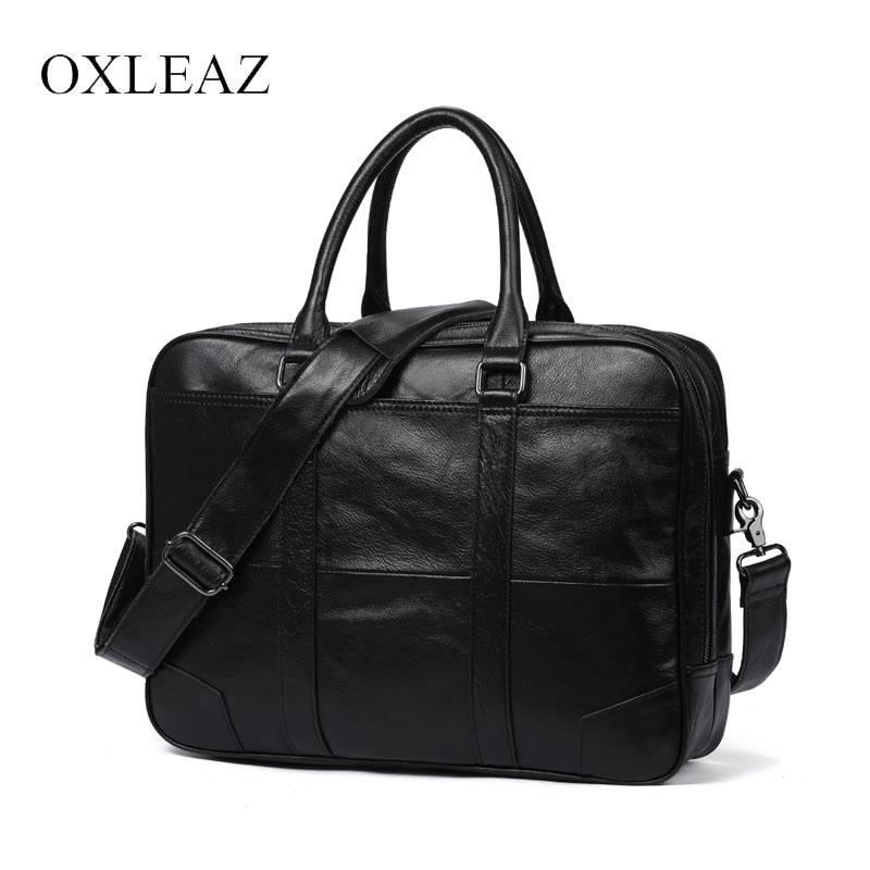 Luxury Men/'s Briefcase Genuine Leather Business Documents Big Capacity Handbag