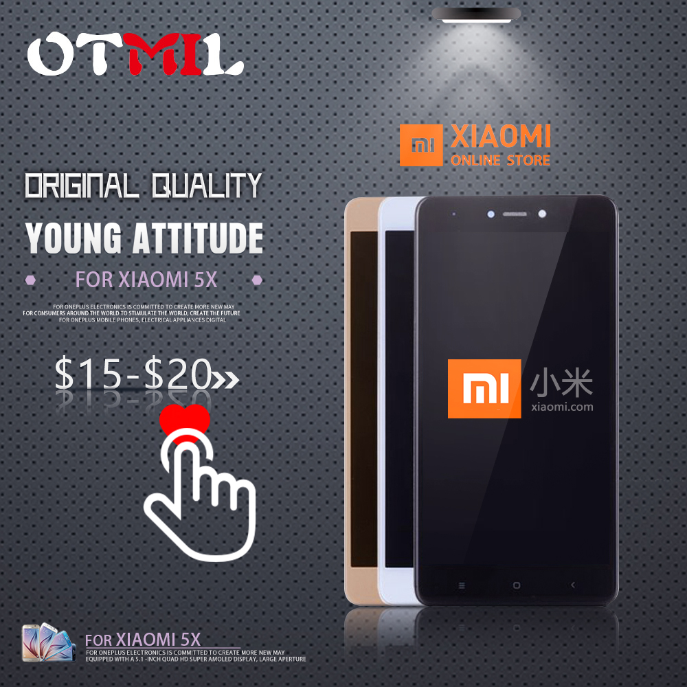 OTMIL 5.5 Original LCD For XIAOMI Mi A1 LCD Touch Screen with Frame For Xiaomi Mi A1 Touch Screen Display MiA1 Mi 5X LCD #1OTMIL 5.5 Original LCD For XIAOMI Mi A1 LCD Touch Screen with Frame For Xiaomi Mi A1 Touch Screen Display MiA1 Mi 5X LCD #1