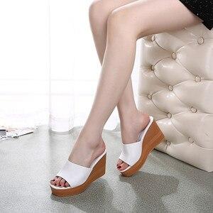 Image 5 - MORAZORA 2020 למעלה איכות עור אמיתי סנדלי נשים אופנה טריזי פלטפורמת סנדלי קיץ מסיבת נשף נעלי אישה נעל