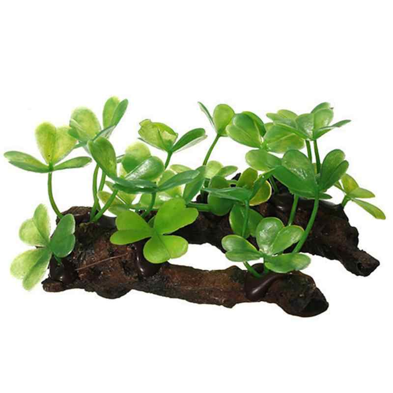 Plastic Plants Grass Aquarium Artificial Fish Tank Green Underwater Grass Plant Aquarium Decoration
