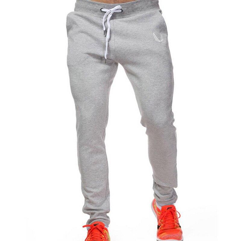 2018 Baumwolle Männer Jogger Sportswear Hosen Beiläufige Elastische Baumwolle Herren Fitness Workout Hosen Dünne Jogginghose Hosen Jogger Hosen