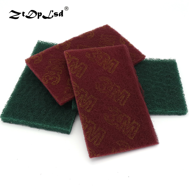 ZtDpLsd 1PCS Industrial Scouring Pad Coarse Rust Removal Cloth Flexible Nonwoven Hand Industry Kitchen Cleaning Scotch Brite