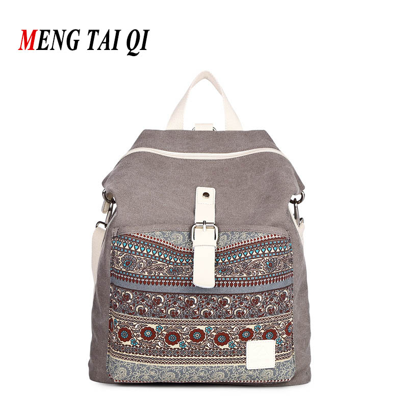 New Arrival Women Bag Canvas Backpack 2017 Fashion School Bag For Teenager High Quality Casual Backpacks