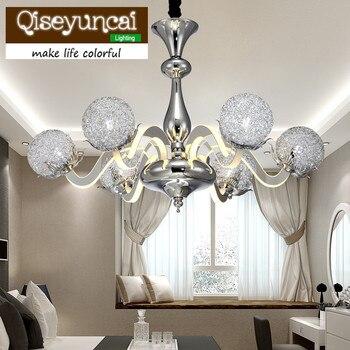 Qiseyuncai Phòng Khách Hiện Đại LED Acrylic Đèn Chùm Cá Tính Sáng Tạo Nghệ Thuật Phòng Ngủ Phòng Ăn Cánh Tay Ánh Sáng Đèn