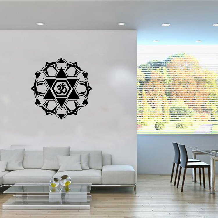 9479 Buddhism India Mandala Wall Stickers Namaste Removable Creative Vinyl Wallpaper Mural Home Decoration Girls Room In From