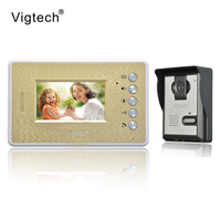 Vigtech Home Wired Cheap 4.3' inch LCD Color Video Door Phone DoorBell Intercom System IR Night vision Camera FREE SHIPPING