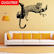 Decorate tiger leopard trees art wall sticker decoration Decals mural painting Removable Decor Wallpaper LF-1790
