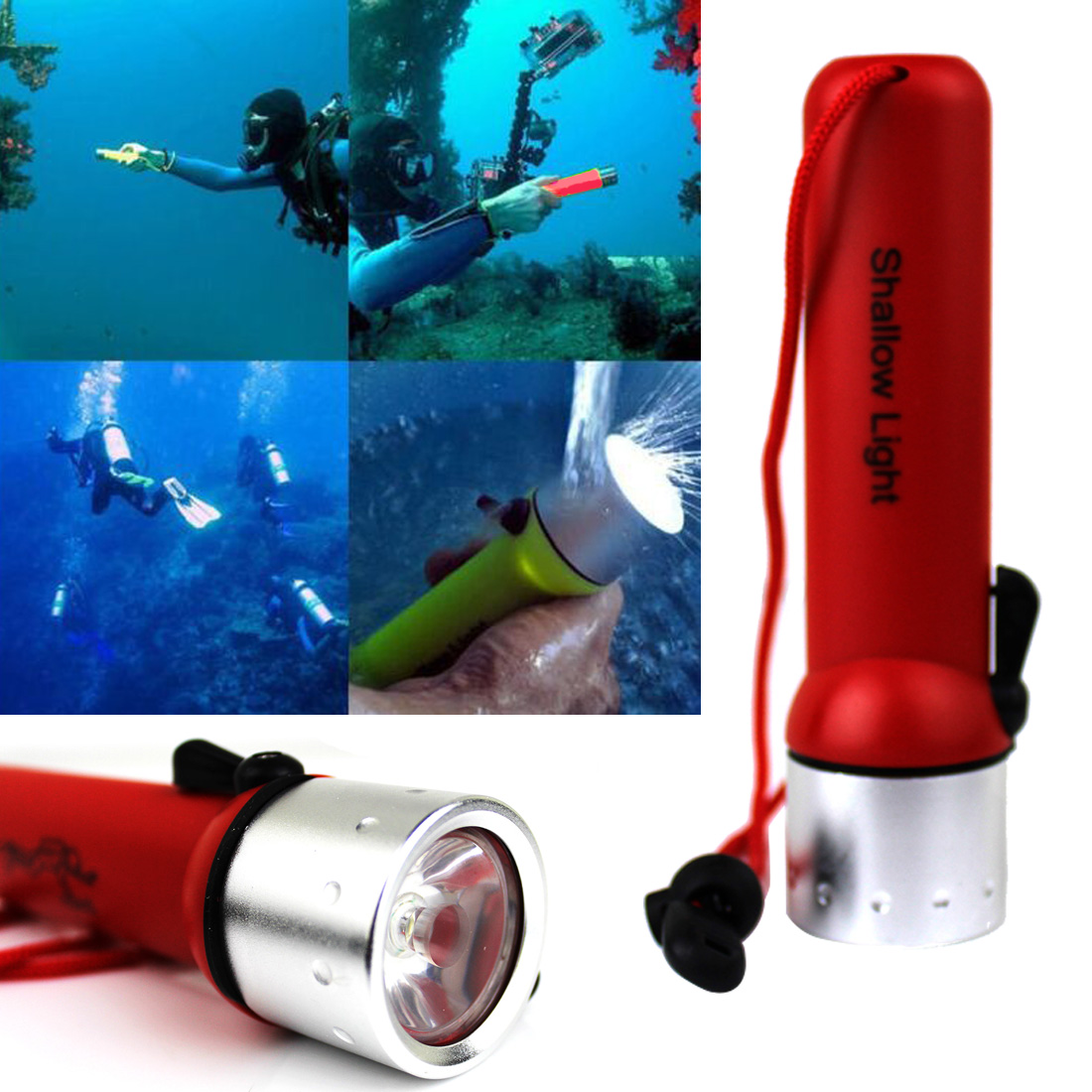 Tactical Underwater Diving Flashlight LED Lanter 2000 Lumens Q5 LED Waterproof Dive Torch Light Linterna Led For Diver