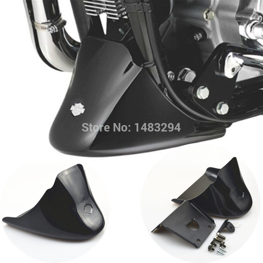 ФОТО Black Front Bottom Spoiler Mudguard Cover Kit Fits fits for Harley Sportster 1200 XL Iron 883 2004-2016 15 14