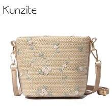 Kunzite Mini playa paja fresca bolso Crossbody Bolsos para las mujeres  Bolsos Mujer ratán verano mano de señoras bolsas de moda . 6da7f802ff03