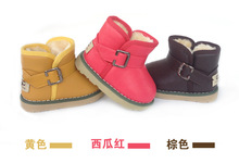 2016 Winter Fashion child girls snow boots shoes warm plush soft bottom baby boots comfy kids