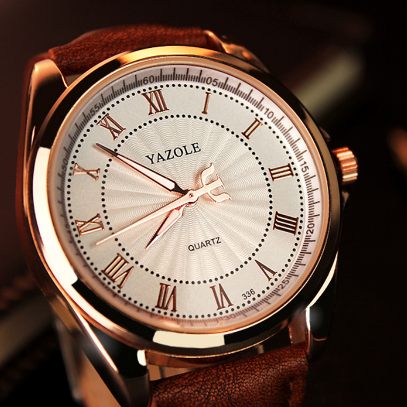 YAZOLE Top Brand Men's Watches Luxury Waterproof Men's Watch Men Watch Fashion Luminous Leather Strap Male Clock  Karachi