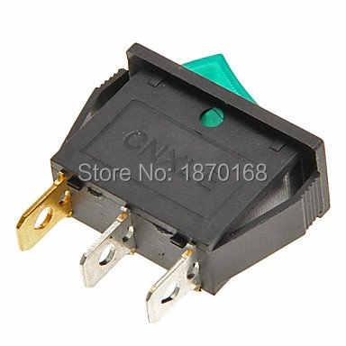 1 stücke/5 Stücke/10 stücke 3Pin AUF-OFF 2 position SPST snap-auf boot Rocker schalter 3u licht grün licht KCD3-101