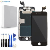 AAA+ Replacement Display for iPhone 6S LCD Display and Digitizer Touch Screen Assembly with Front Camera+Ear Speaker,Black White