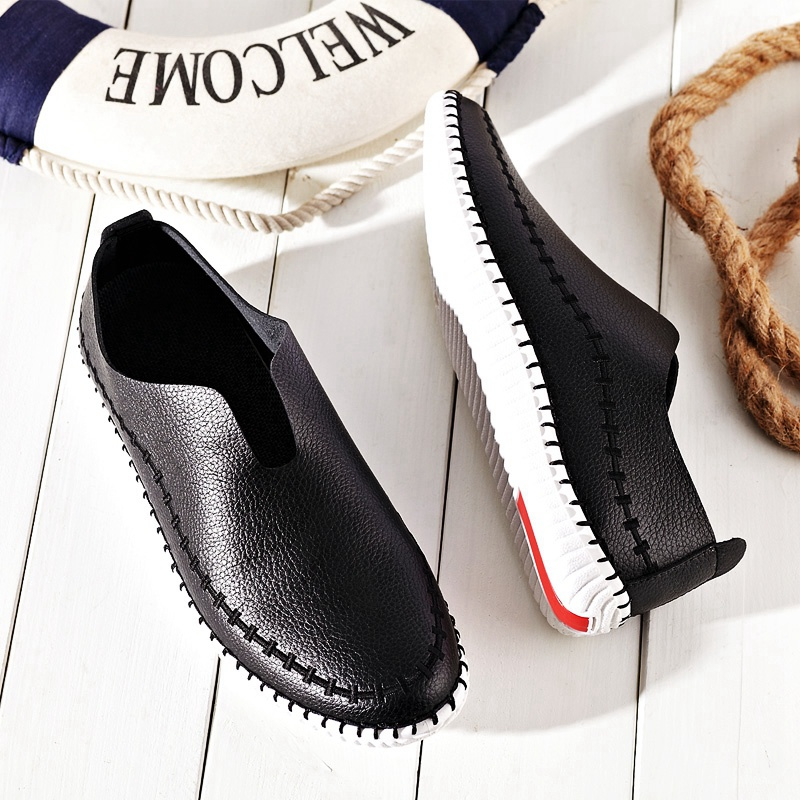 Men Peas Shos New Arrival For Male Moccasins Fashion Comfort Office Driving Shoe Breathable Flats Slip On Sapatos Masculinos In S Casual Shoes From