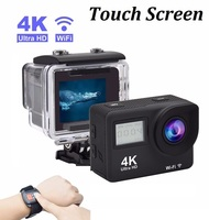 Touch Screen Ultra HD 4K WiFi Camera 2.0 Dual Screen Digital Video Camera 30M Waterproof Remote Control Camcorder