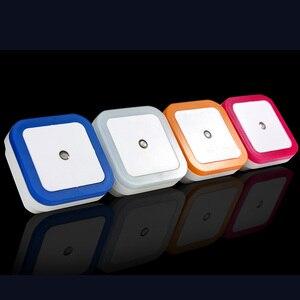 """Image 3 - מיני LED 0.5W לילה אור שליטה אוטומטי חיישן תינוק שינה מנורת כיכר לבן צהוב AC110 220V LED לילה אור עבור תינוק ארה""""ב האיחוד האירופי"""