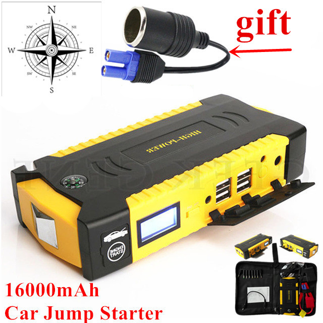 Mini Best Product Car Jump Starter 12V 600A Pack <font><b>Portable</b></font> <font><b>Power</b></font> Bank Diesel Starting Device Car Charger For Car Battery Booster