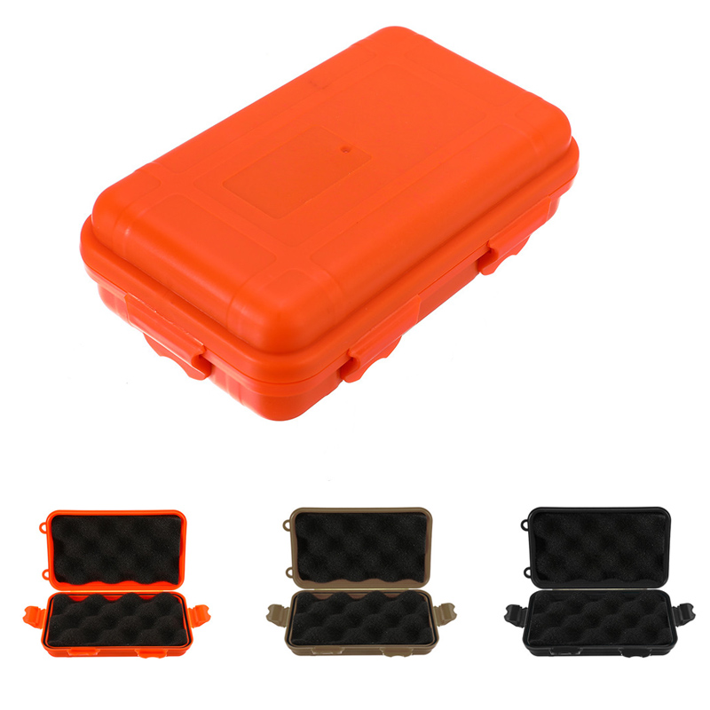Outdoor Carry Storage Box Case Travel Kit Shockproof Waterproof Storage Box Sealed Container Case Airtight Survival Storage Case