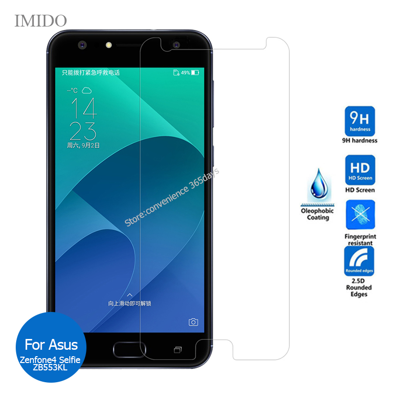 2PCS For Asus Zenfone 4 Selfie ZB553KL Tempered Glass Screen Protector 9h Safety Protective Film on Zenfone4 Zb553 KL Zb 553KL
