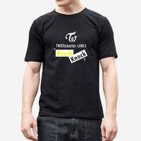Wangcangli 2018 Twice KPOP Mens T Shirt Cotton Men Women Short Sleeve T Shirts Spring Print